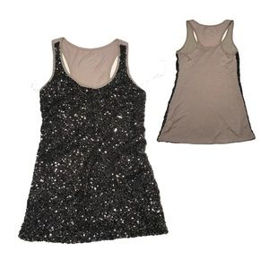 INC international concepts full front sequin tank